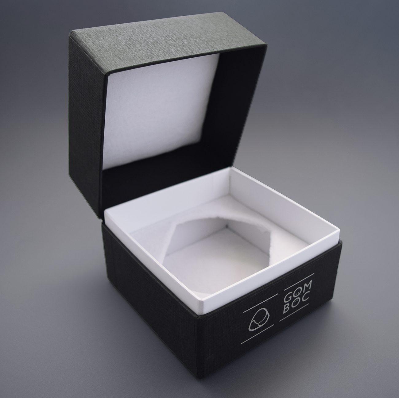 Gomboc Gift Box Engraved Logo Open