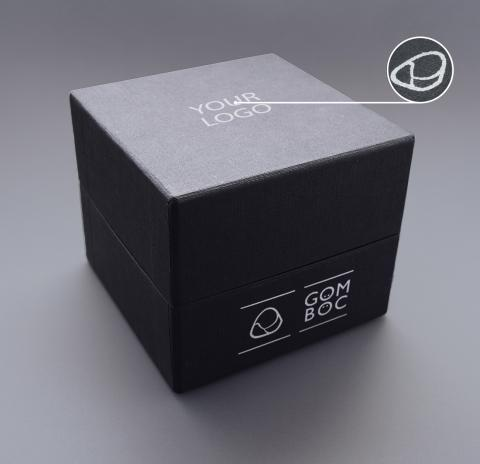 Gomboc Gift Box Silver Logo Closed
