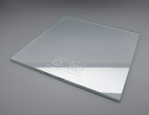 Gomboc Glass Plate Engraved